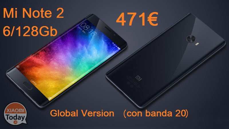 codice sconto xiaomi mi note 2 black 6 128gb global con. Black Bedroom Furniture Sets. Home Design Ideas