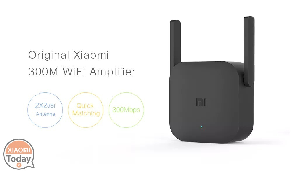 offerta xiaomi pro 300m 2 4g wifi amplifier black a 10 garanzia 2 anni europa. Black Bedroom Furniture Sets. Home Design Ideas