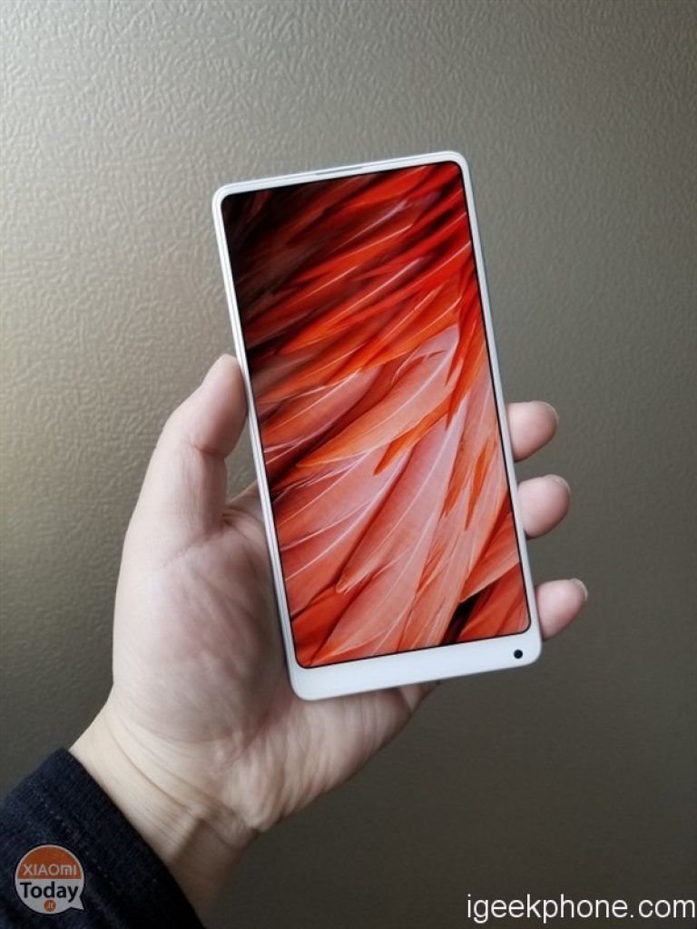 Mi Mix 2 in ceramica bianca unibody