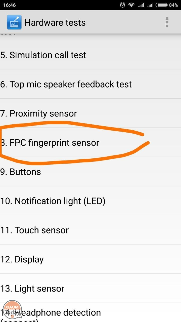 xiaomi mi6 calibration fingerprint reader