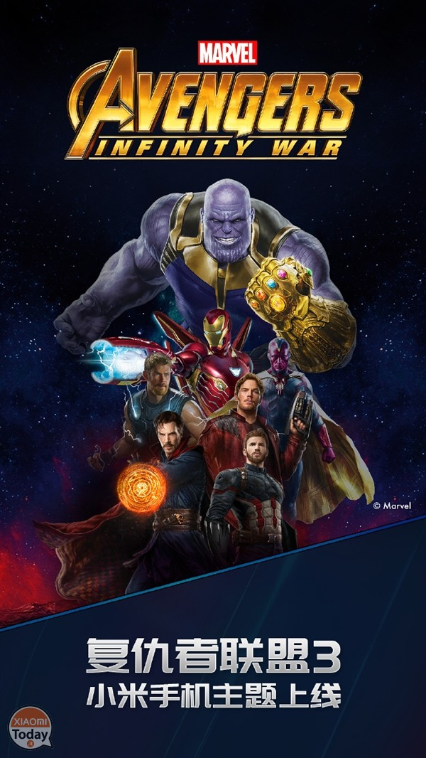 Xiaomi launches the Avengers: Infinity War themes