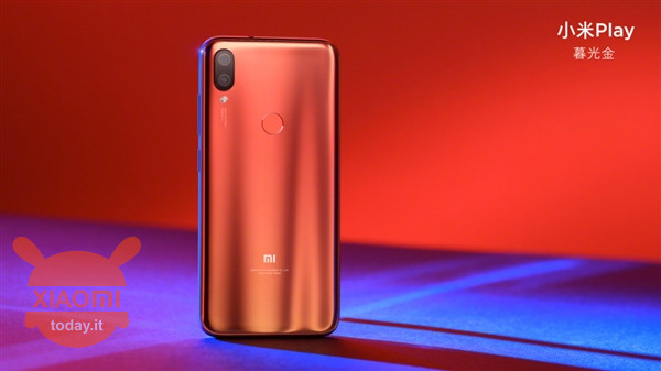 Xiaomi Play viene con 6GB de RAM y tres colores brillantes