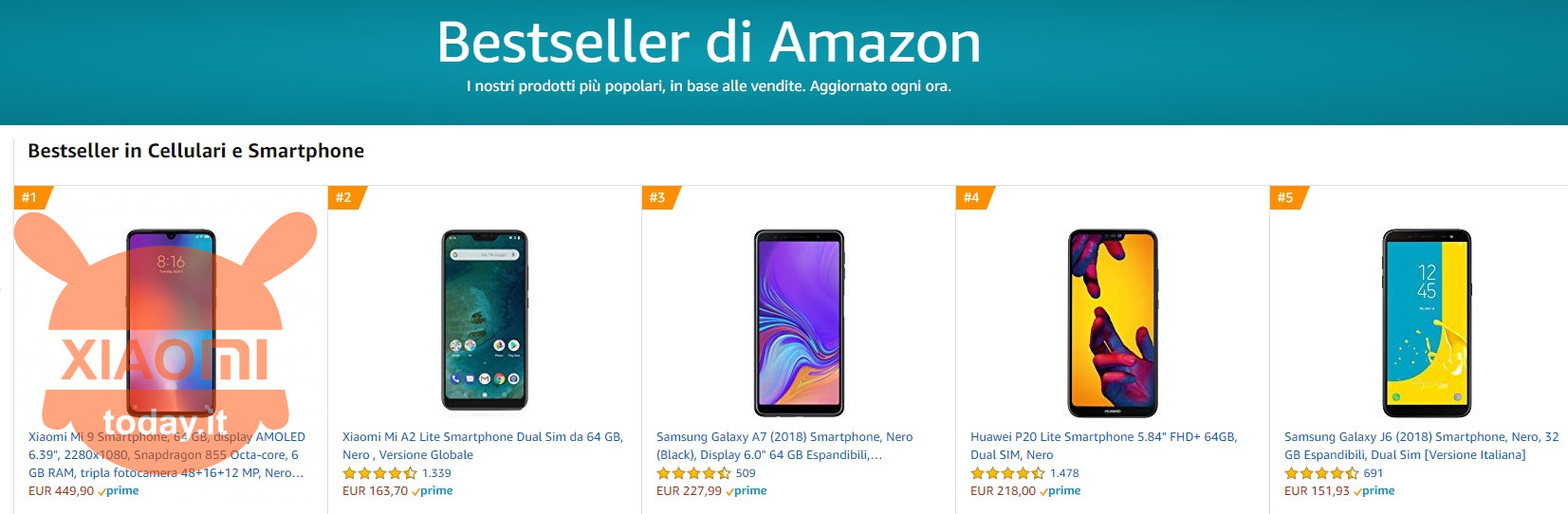 Xiaomi Mi 9: record sales in both China and Italy  It is already