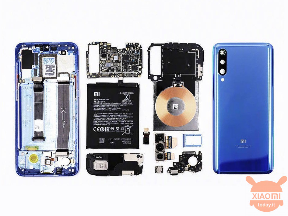 Xiaomi Mi 9 teardown