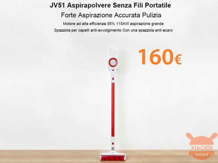 jimmy jv51 xiaomi 160 aspirateur