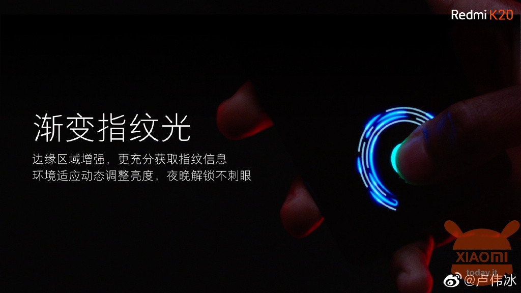 Redmi K20 ud sensor AMOLED display