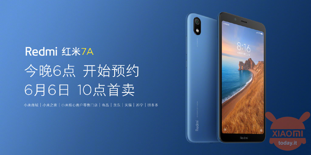 Redmi 7A specific specs official price