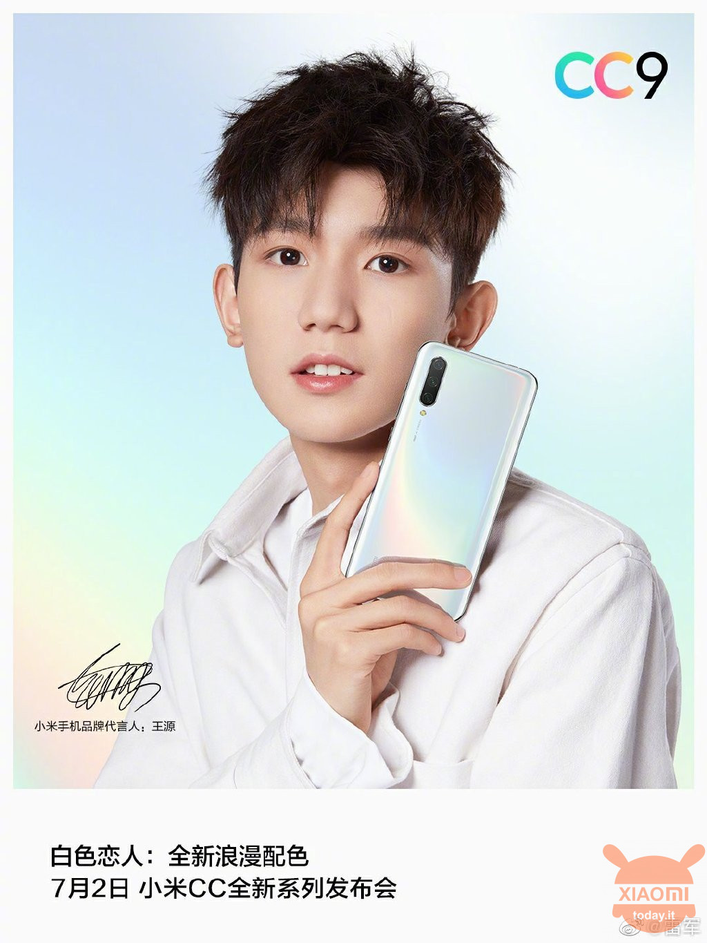 Xiaomi CC9 white lovers