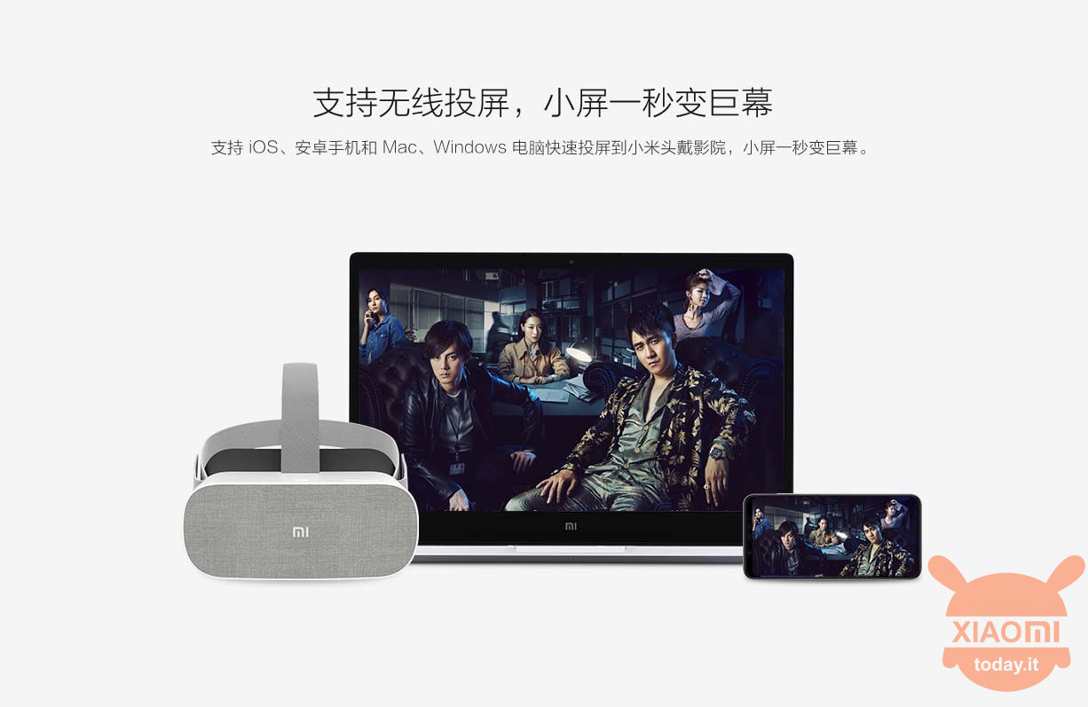 Xiaomi Head-Mounted Theater casting