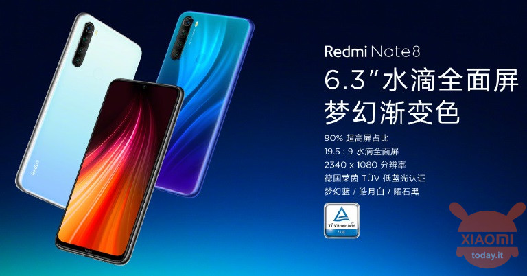 Redmi Note 8 specifiche