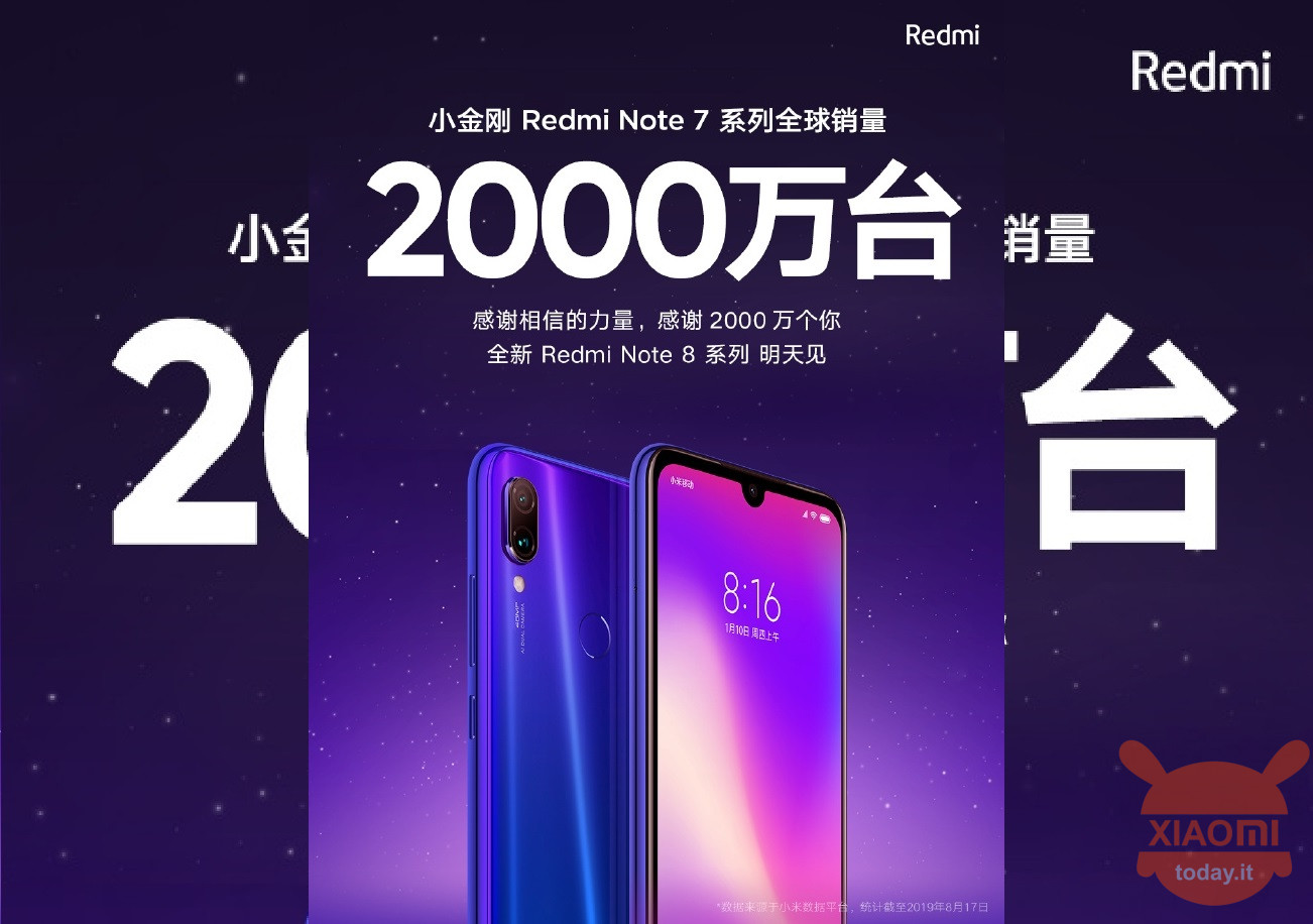 Redmi Notes 7 20mln