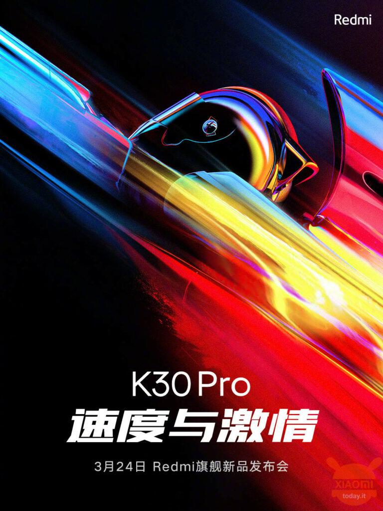 Redmi K30 Pro发布日期24月XNUMX日