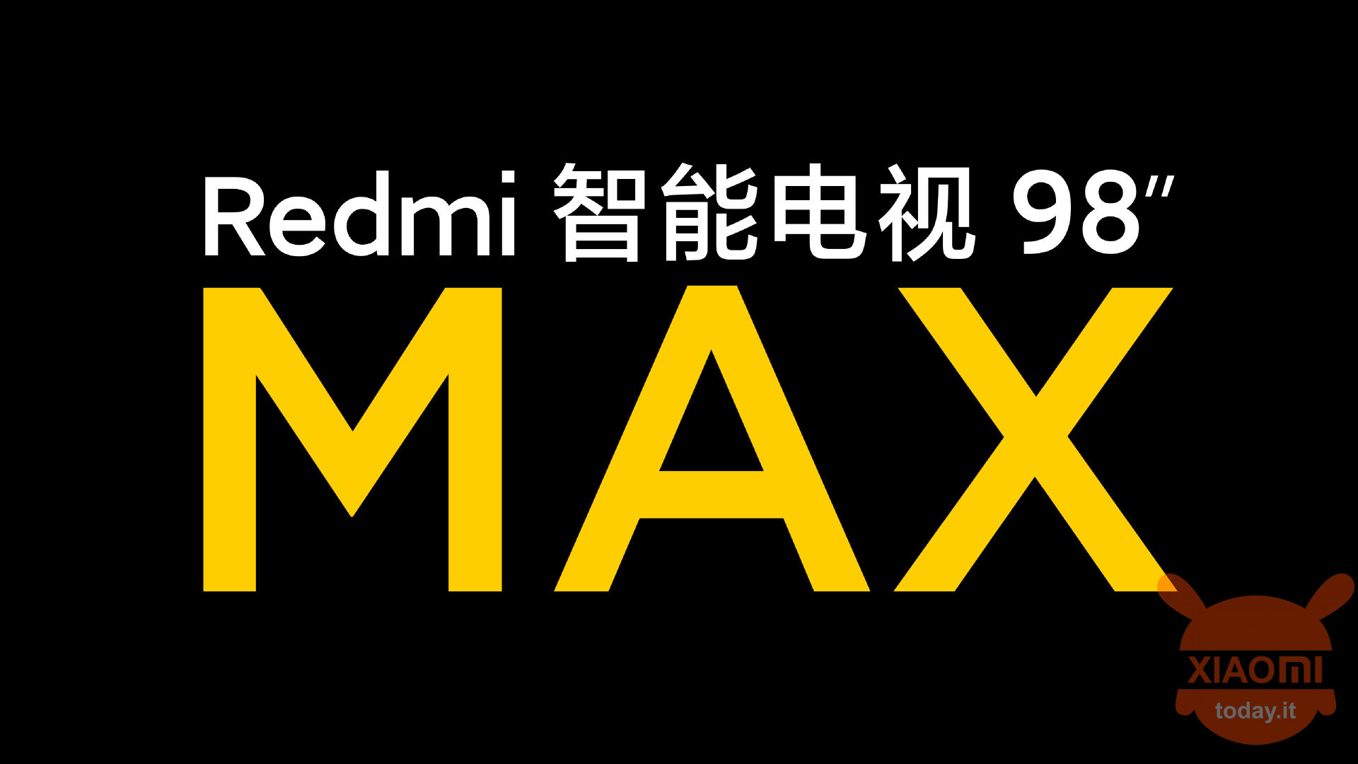 redmi tv max 98 ""