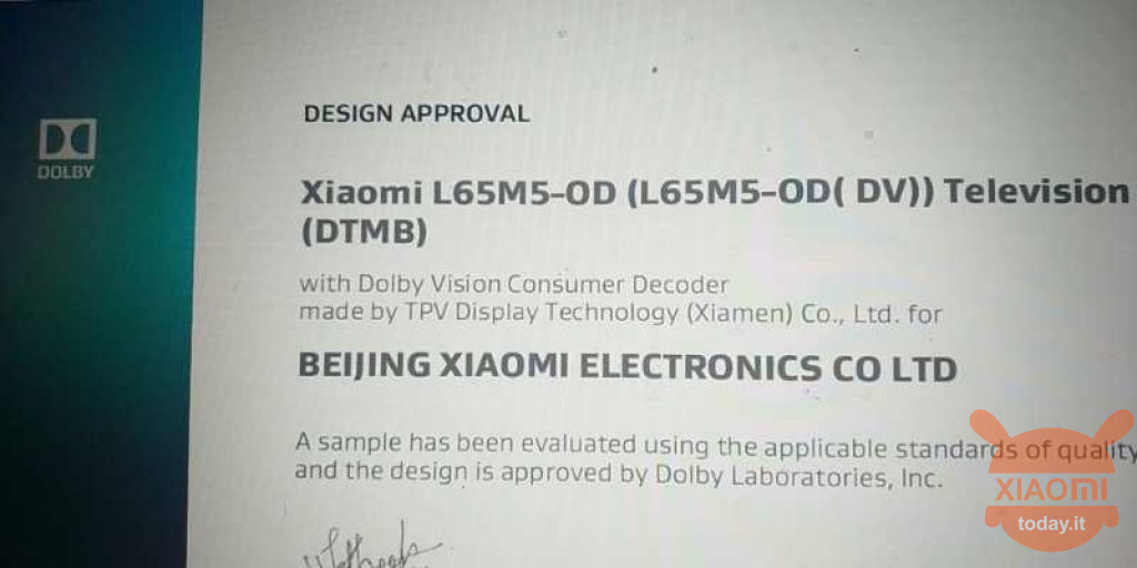 """65 """"xiaomi tv met dolby vision-technologie"""
