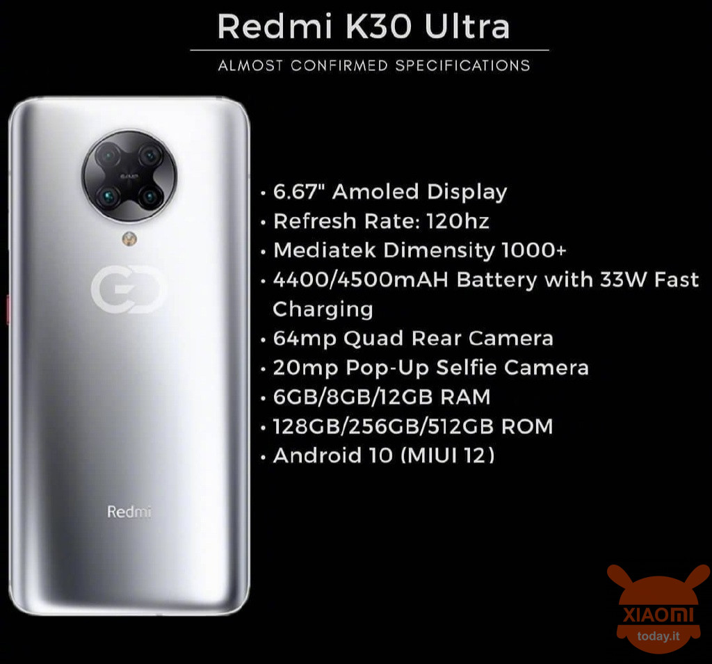 Redmi K30 Ultra specifications