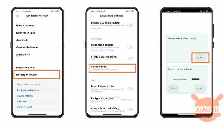 miui 12 how to monitor the framerate