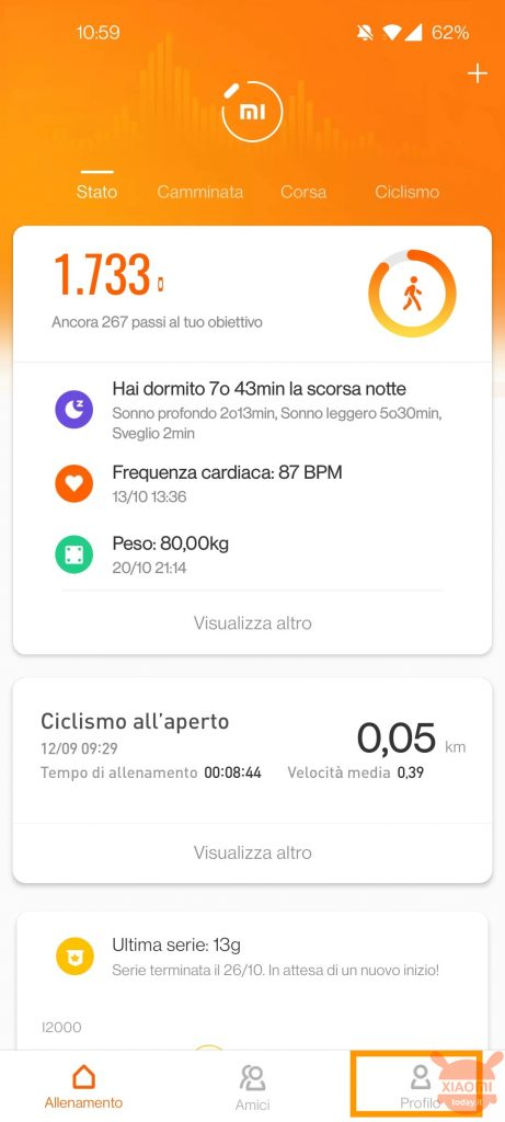 come collegare app immuni a xiaomi mi band