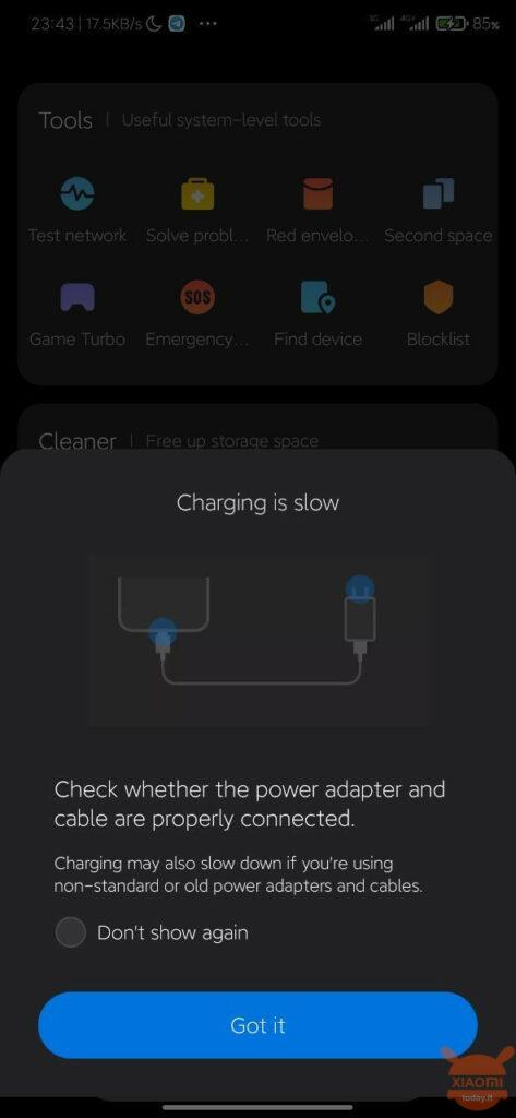 MIUI 12 zal ons vertellen of we de batterij op de juiste manier opladen