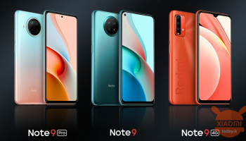 Redmi Note 9 4G, Note 9 and Note 9 Pro official in China: up to Snapdragon 750G and 108MP sensor