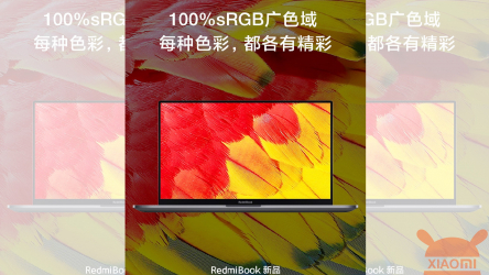 RedmiBook 16: It will have a 16,1 ″ display, 100% sRGB and much more