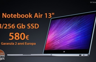 """Discount Code - Xiaomi Air 13 Laptop """"8 / 256Gb SSD ONLY 580 € 2 Guarantee years Europe Italy Express free"""