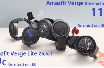 Code de réduction - Xiaomi Amazfit Global Verge à 110 € et la version Lite à 79 € garantie 2 années Europe