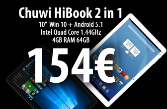 [Code de réduction] Chuwi HiBook - Double OS gagnent + android 4gb / 64gb 154 € L'expédition a inclus