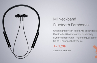Xiaomi Mi Neckband Earphone Bluetooth dengan Bluetooth 5.0 disajikan di India