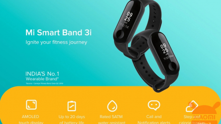 Xiaomi Mi Band 3i presented in India: The ultra economic fitness band