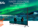 "Offer - 55 SmartTv ""4K Haier U55H7000 for only 364 €! FREE express shipping from Italy warehouse included! warranty 2 years Italy"