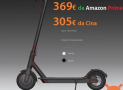 Codul de reduceri - Xiaomi Electric Scooter M365 la 305 € și la 369 € de la Amazon Prime