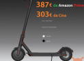 Discount Code - Xiaomi Electric Scooter M365 to 303 € and to 387 € from Amazon Prime