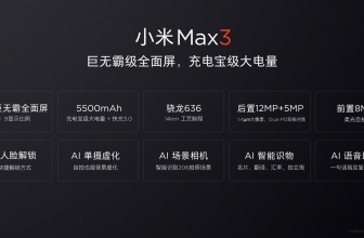 Xiaomi Mi Max 3 here are the official confirmations on the technical specifications by Xiaomi