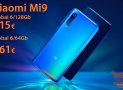 Discount Code - Xiaomi Mi9 Global 6 / 64Gb at 361 € and 6 / 128Gb at 415 € and 449 € Blue 6 / 64Gb from Amazon Prime