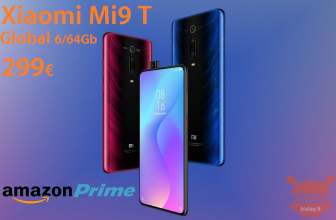 Offer - Xiaomi Mi9 T Global Black / Blue 6 / 64Gb to 299 € from Amazon Prime only for 24 subject to availability (from midnight)