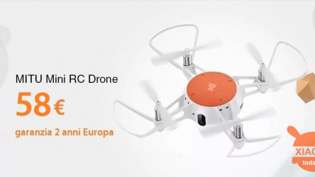Code de réduction - Xiaomi MITU Mini RC Drone à 58 € 2 ans de garantie Europe