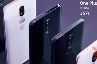 Rabattcode - OnePlus 6 Global 8 / 128Gb zu 357 €
