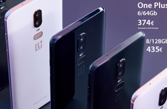 Offer - OnePlus 6 6 / 64 Gb to 374 € and 8 / 128Gb to 435 € 2 warranty for Europe and Italy Express FREE
