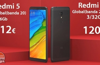 Discount Code - Xiaomi Redmi 5 Black 2 / 16Gb global version (20 band) to 112 € and 3 / 32Gb only 120 €