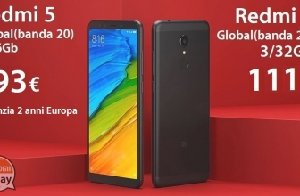 Discount Code - Xiaomi Redmi 5 Black 2 / 16Gb Global (20 band) to 93 € 2 warranty for Europe and 3 / 32Gb to 110 € Italy Express Included