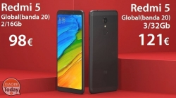 Discount Code - Xiaomi Redmi 5 2 / 16Gb global version (20 band) to 98 € and 3 / 32Gb only 121 € Italy Express Included