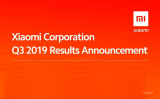 Xiaomi Group communicates the results obtained in the Q32019