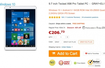 "[Offer] Teclast X98 Pro - Tablet 9.7 ""on GearBest for 206 €"