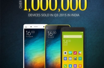 Xiaomi sold over 1 million devices in India in Q3