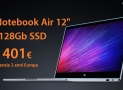 "Discount Code - Xiaomi Air 12.5 ""4 Laptop / 128Gb Silver to 401 € 2 years warranty Europe and priority line shipping included"