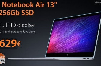 "Code de réduction - Ordinateur portable Xiaomi Air 13 ""8 / 256Gb SSD SEULEMENT 629 €"
