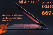 Discount Code - Xiaomi 13.3 Core Air Notebook i5-8250U 8 / 256 Gb to 669 € 2 years warranty Europe and FREE priority shipping