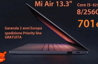Discount Code - Xiaomi 13.3 Core Air Notebook i5-8250U 8 / 256 Gb to 701 € 2 years warranty Europe and FREE priority shipping