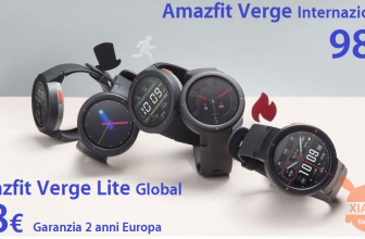 Discount Code - Xiaomi Amazfit Global Verge at 98 € and the Lite version at 78 € warranty 2 years Europe priority shipment Included