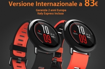 Offer - Xiaomi AmazFit International Black / Red at ONLY 83 € 2 years warranty Europe and shipping Italy Express INCLUDED!